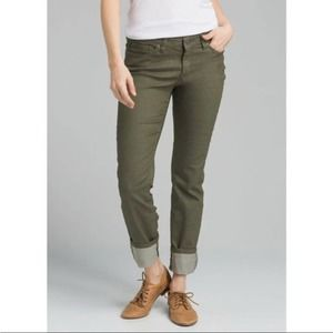 PrAna Kara Organic Cotton Straight Army Green Jean